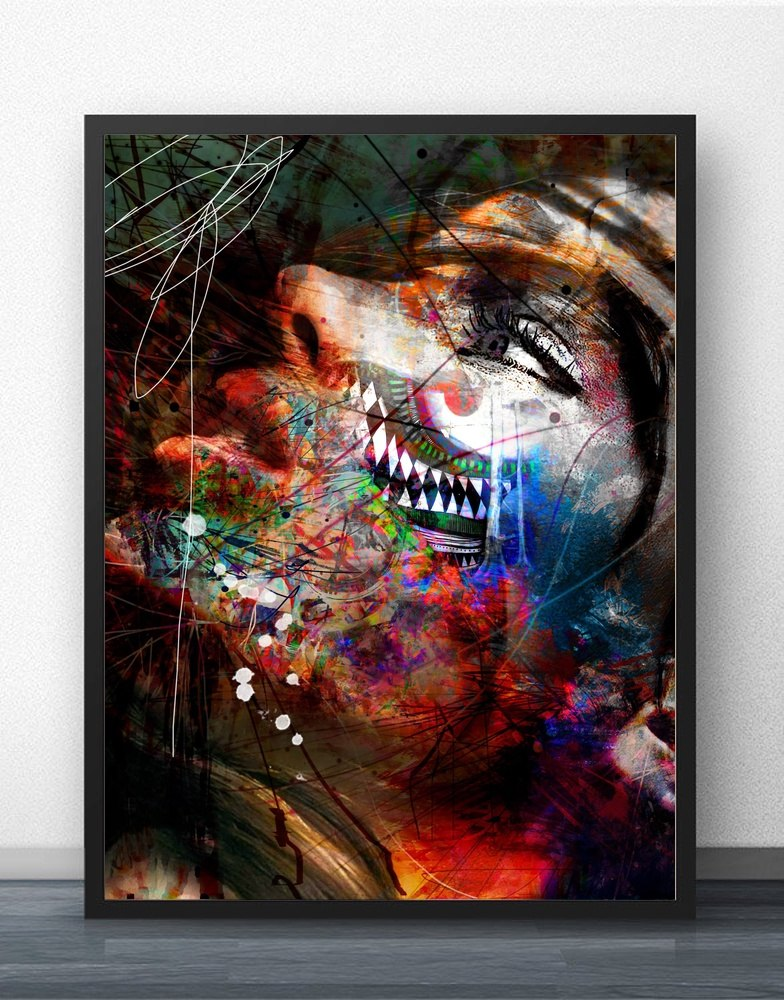 Abstract Movie Wall Art Paint Canvas