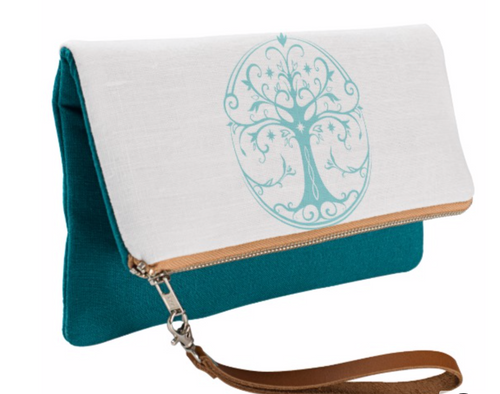 Tree of Life Fold Over Clutch