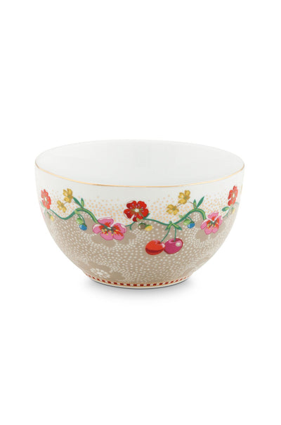 Pip Studio Cherry Bowl Khaki