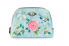 Medium Triangle Good Morning Floral Cosmetic Bag