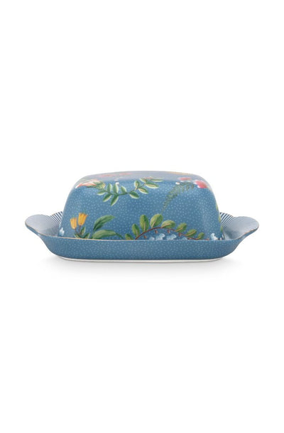 La Majorelle Butter Dish in Blue by Pip Studio