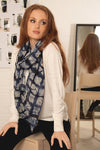 Navy Blue Watercolour Scarf by Miss Shorthair