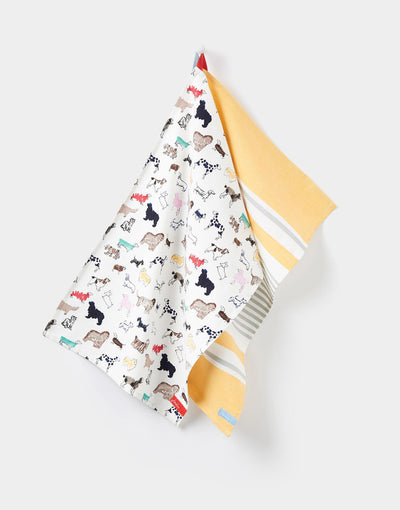 Dogs All Over 2 Pack Tea Towels