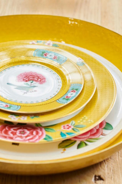 Blushing Birds Yellow Plate 26.5cm by Pip Studio