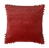 Velvet Cushion in Chestnut