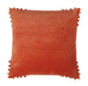 Velvet Cushion in Paprika