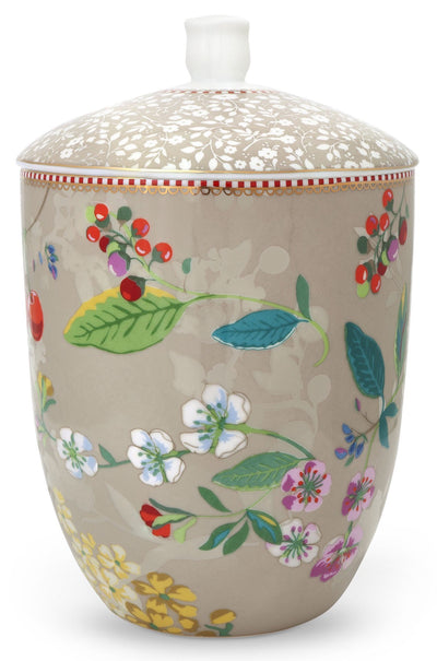 Pip Studio Hummingbirds Khaki Storage Jar