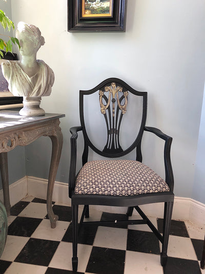 Hand-painted Mahogany Chair