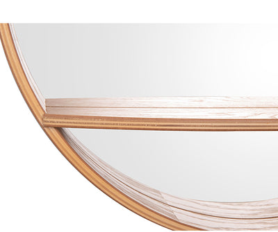 Large Sheer Rounded Pine Mirror