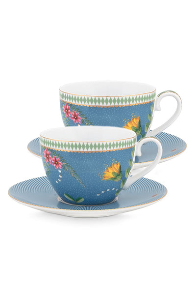 Set of 2 La Majorelle Cup & Saucer 280ml by Pip Studio