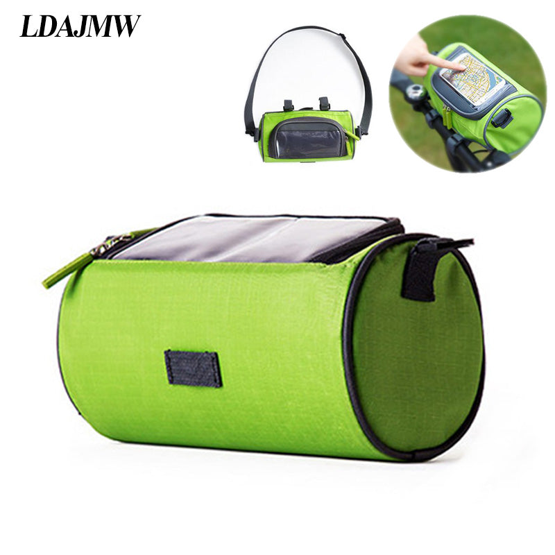 LDAJMW Waterproof Touchscreen Bike Front Head Top Tube Bag Bicycle Accesories Mobile Phone Pouch For IPhone Storage Bag