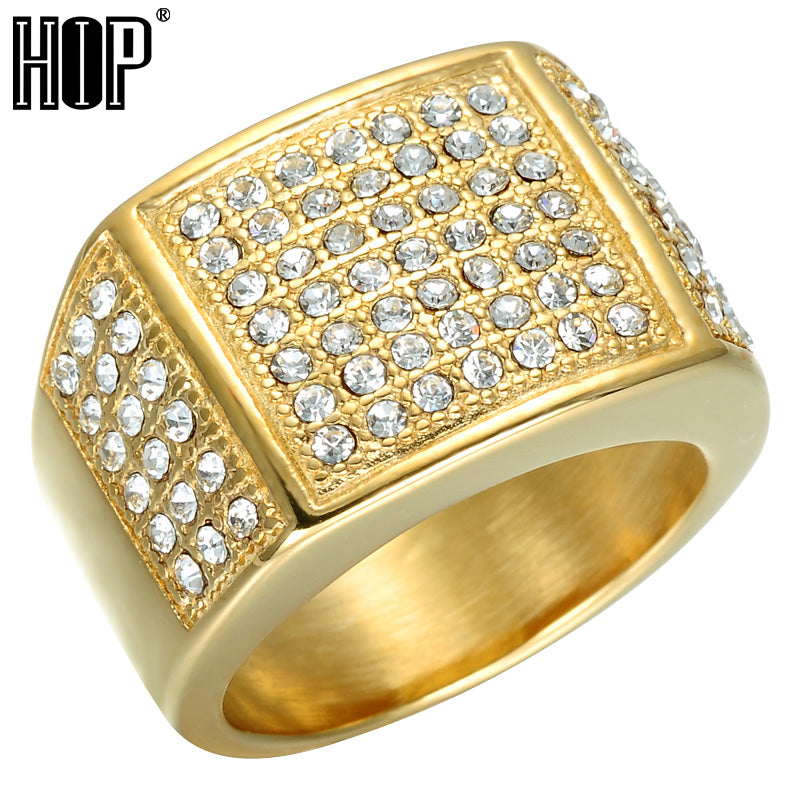 HIP Hop Full Micro Pave Men 14k Gold