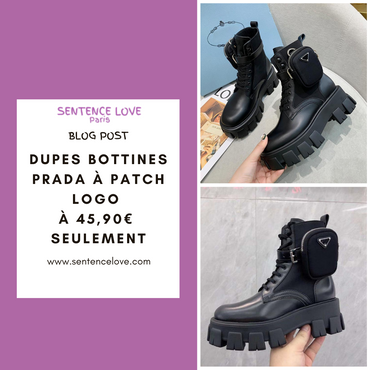 DUPE BOTTINES PRADRA A PATCH LOGO à 45,90€ seulement