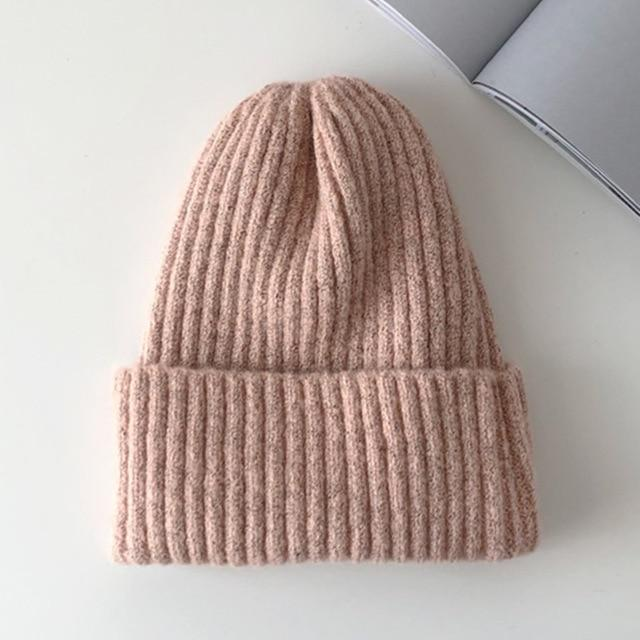 Bonnet basic simple Chapeau vetement tendance femme Sentence Love Pink / 54cm-58cm