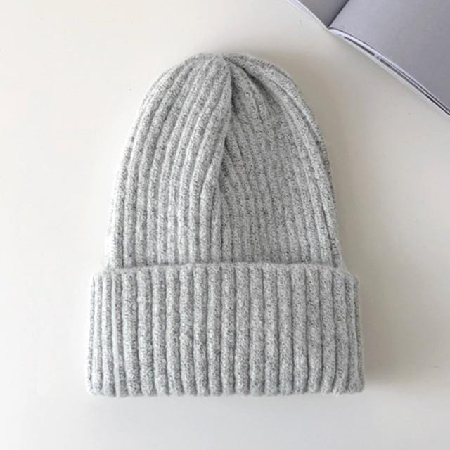 Bonnet basic simple Chapeau vetement tendance femme Sentence Love Light Gray / 54cm-58cm