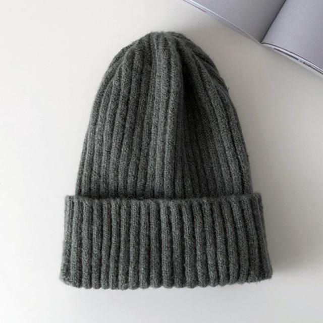 Bonnet basic simple Chapeau vetement tendance femme Sentence Love Dark Gray / 54cm-58cm