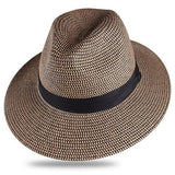 Chapeau en paille mixte basic Chapeau vetement tendance femme Sentence Love Brown and Black / M
