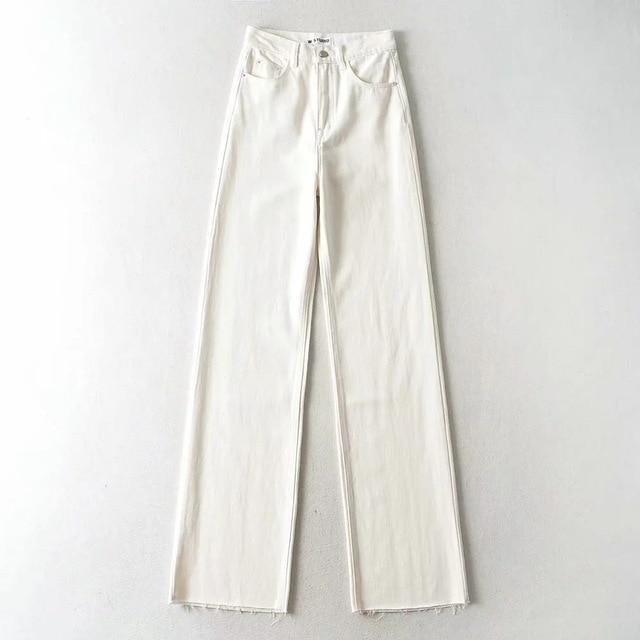 Jeans wide leg large en jean Pantalon vetement tendance femme Sentence Love white / L