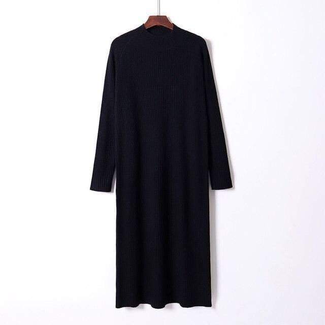 Robe pull oversize basic Robe vetement tendance femme Sentence Love Black / One Size