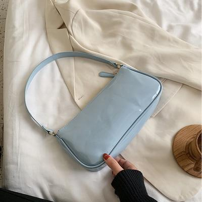 Sac baguette brillant à épaule Sac vetement tendance femme Sentence Love Blue shoulder  bag