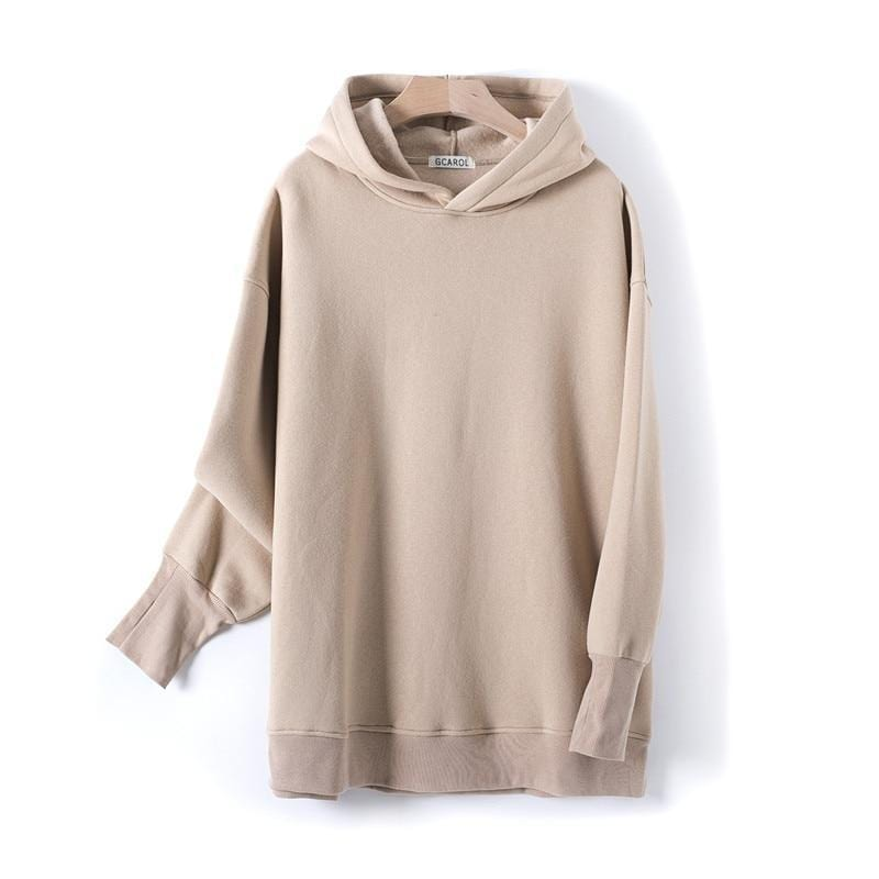 Sweat à capuche 80% Cotton oversize basic Pull vetement tendance femme Sentence Love