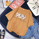 T-shirt imprimé leopard what a good day Haut vetement tendance femme Sentence Love