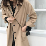 Trench manches longues coupe droite Veste Sentence Love