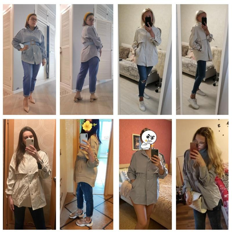 Trench mi long loose Veste vetement tendance femme Sentence Love