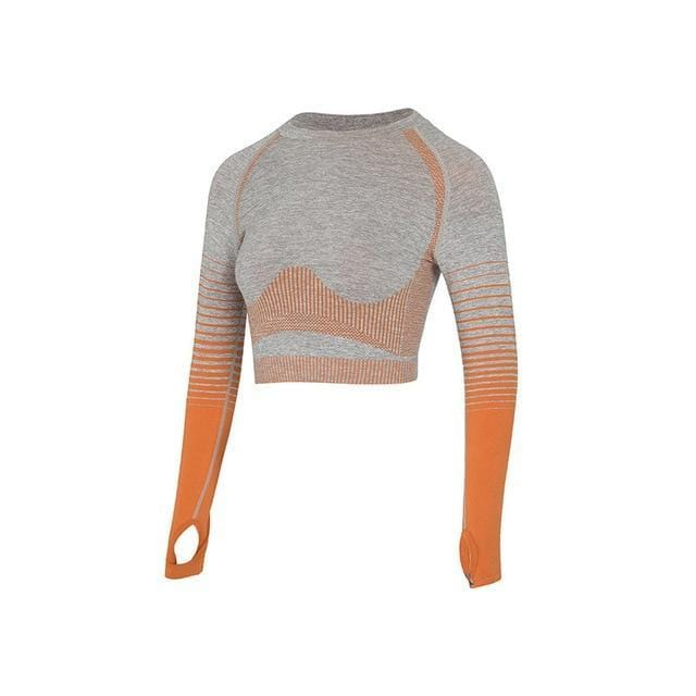 Vêtements de sport Gym Yoga Ensemble Sport vetement tendance femme Sentence Love orange top 1pcs / L