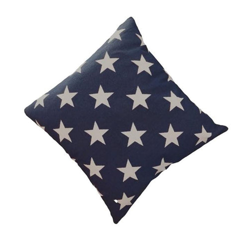 Navy Star Cushion Cover