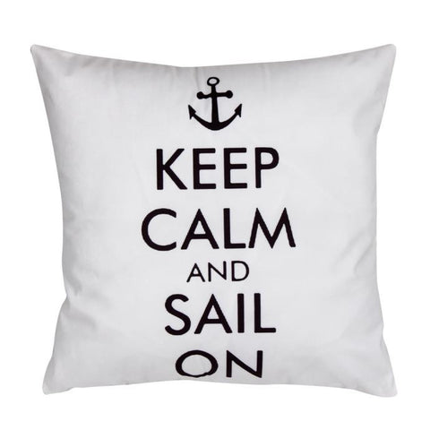 Keep Calm Nautical Cushion Cover