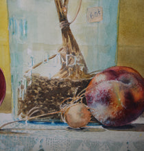 "Watercolor Still Life, Original Painting, ""Late September"", 15""h. x 22"" w."
