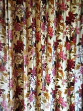 "Vintage English Floral Curtains, Bird of Paradise, Cotton Broadcloth, 54""w. x 78""l., MANY Panels in many sizes!"