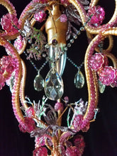 "Petite Beaded Chandelier, 16"" h. X 11"" w., One of a kind"