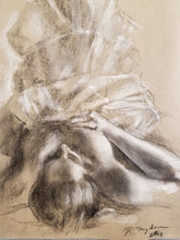 Woman in Petticoats, Charcoal and Chalk on Newsprint