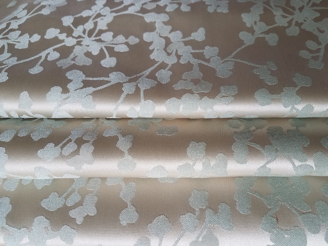 Satin Curtains, Two Pairs Available, Champagne and Seafoam, Extra Long and Wide, 30