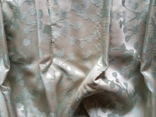 "Satin Curtains, Two Pairs Available, Champagne and Seafoam, Extra Long and Wide, 30""w. top x 51""w. bottom x 102""l."