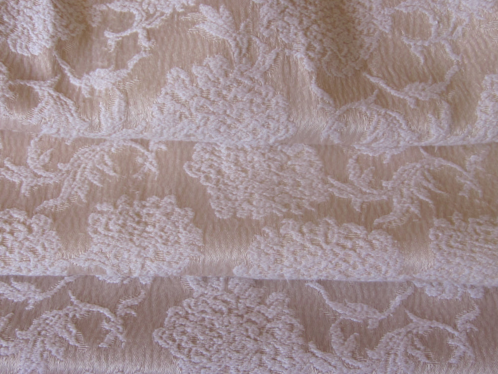 Vintage Curtains, Ivory Satin Damask, 24