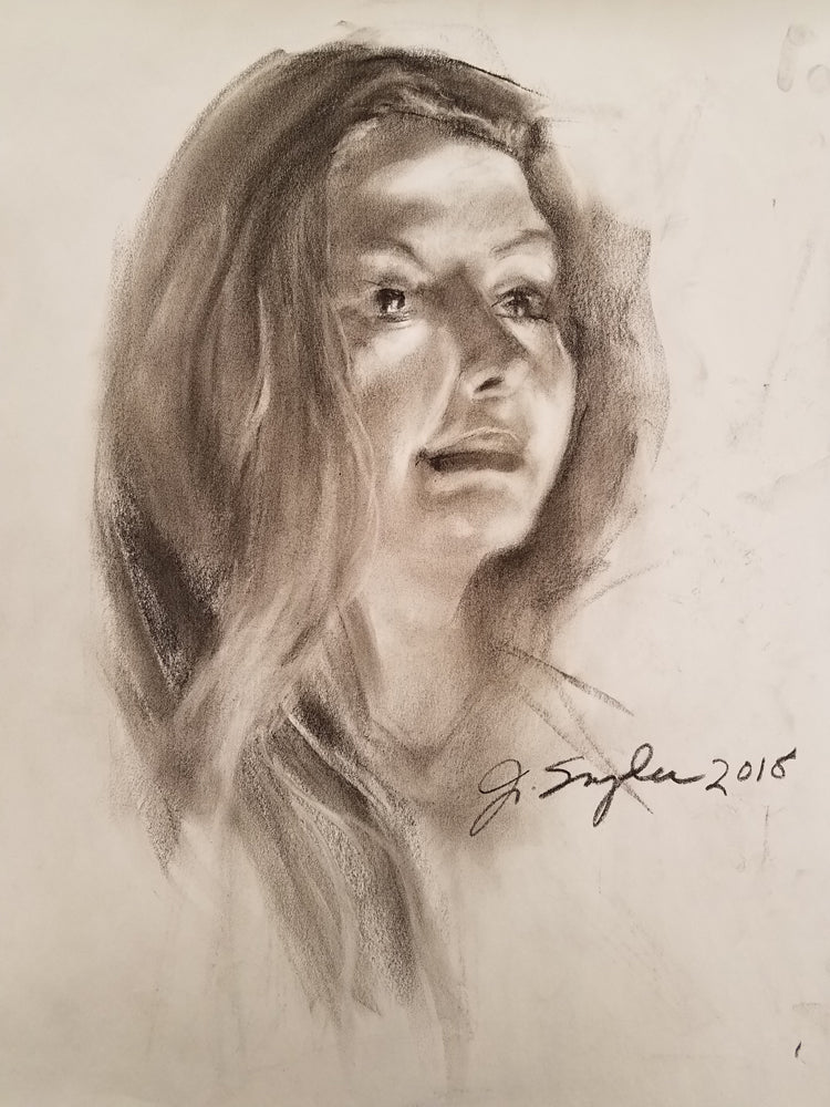 Original Charcoal Drawing,