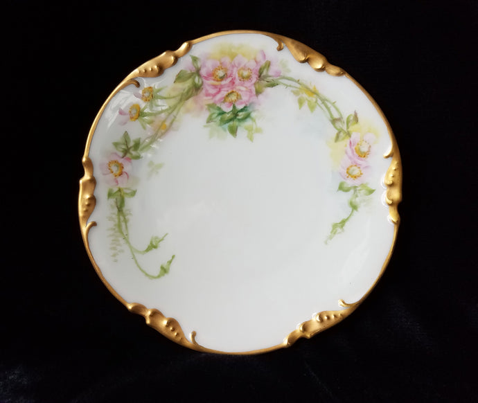 RARE Antique J.P. Limoges Hand Painted Salad/Dessert Plate, Mint, c. pre-1932