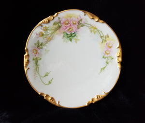 RARE Antique J.P. Limoges Hand Painted Bread and Butter Plate, Mint, c. pre-1932