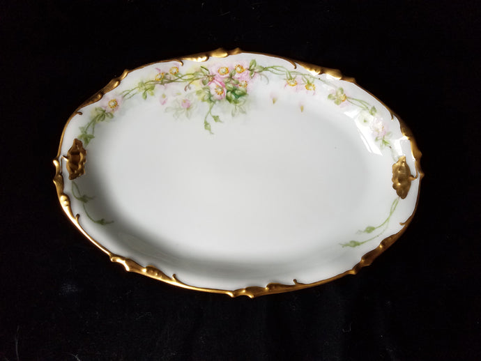 RARE Antique J.P. Limoges Hand Painted Serving Platter, Mint, c. pre-1932