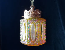 Bohemian Pendant Light, Hand Stained Lustre Finish with Swarovski Rhinestones, Three Available