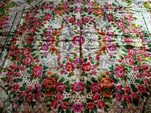 "Itlaian Velvet Bedspread, Mint Condition, 86""w. x 100""l."