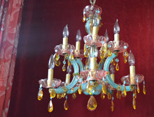 Crystal Carnival Chandelier, One of a Kind, Featured in Romantic Homes Magazine
