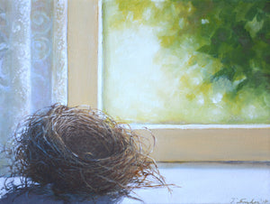 "Nest, Original Oil Painting on Canvas, 16""w. x 12""h."