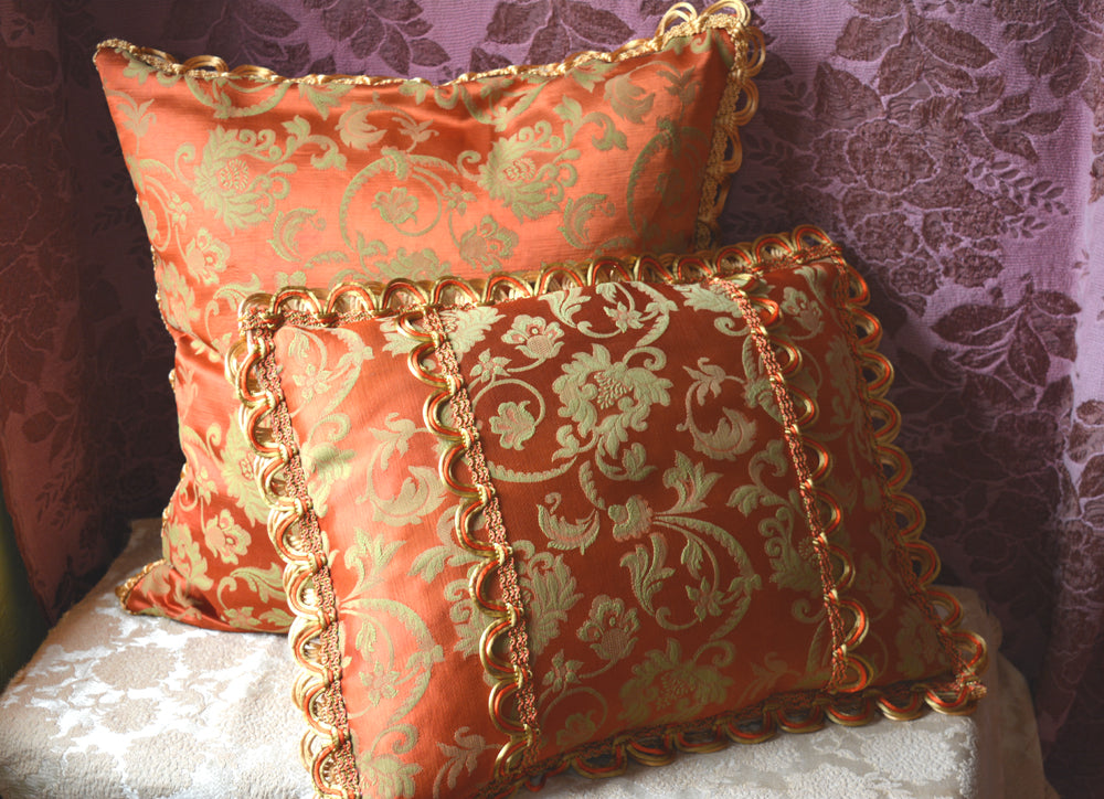 Decorative Pillow Pair, Reversible, 22