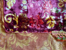 "Italian Wedding Blanket, Printed Velvet, Mint Condition, 103""l. x 93""2."