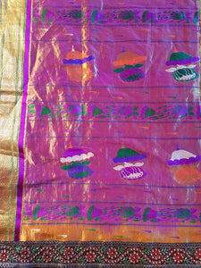 "Vintage Saree Curtains, Silk, Extra Long,  112""l. x 21""w."