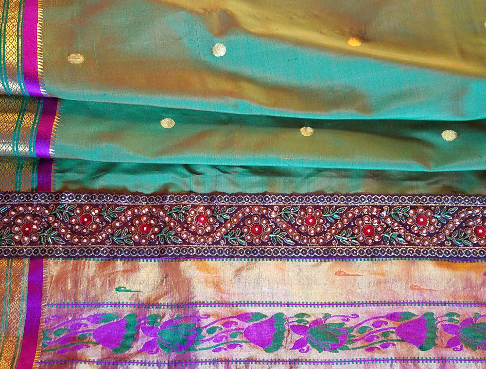 Vintage Saree Curtains, Silk, Extra Long,  112